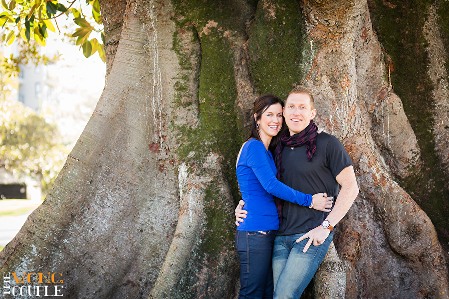 Rushcutters Bay park engagement session photos