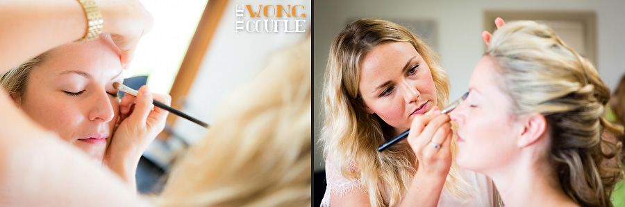 Photos of bride getting ready for northern beaches wedding