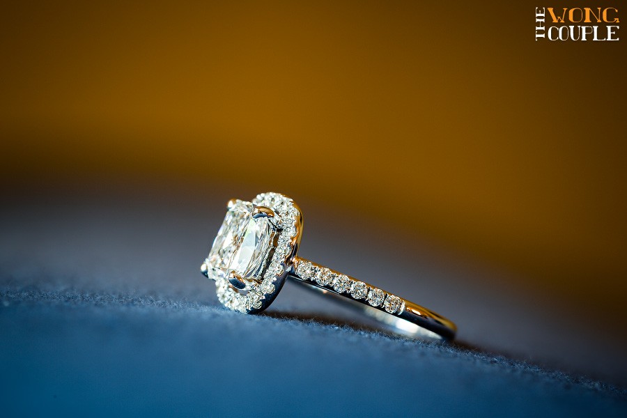 Beautiful engagement ring, elegant wedding detail photos