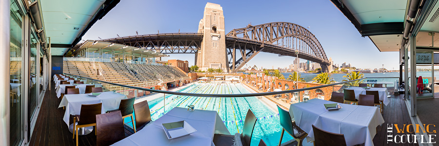 Aqua Dining Restaurant, panoramic wedding photos, Sydney Harbour wedding venue photos