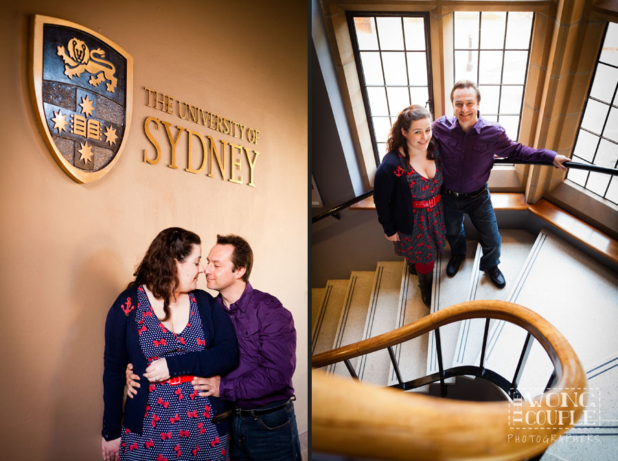 Pre-wedding photos at the University of Sydney