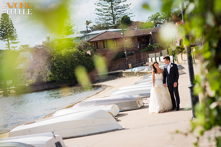 Creative wedding photography Sydney Watson Bay Valcluse