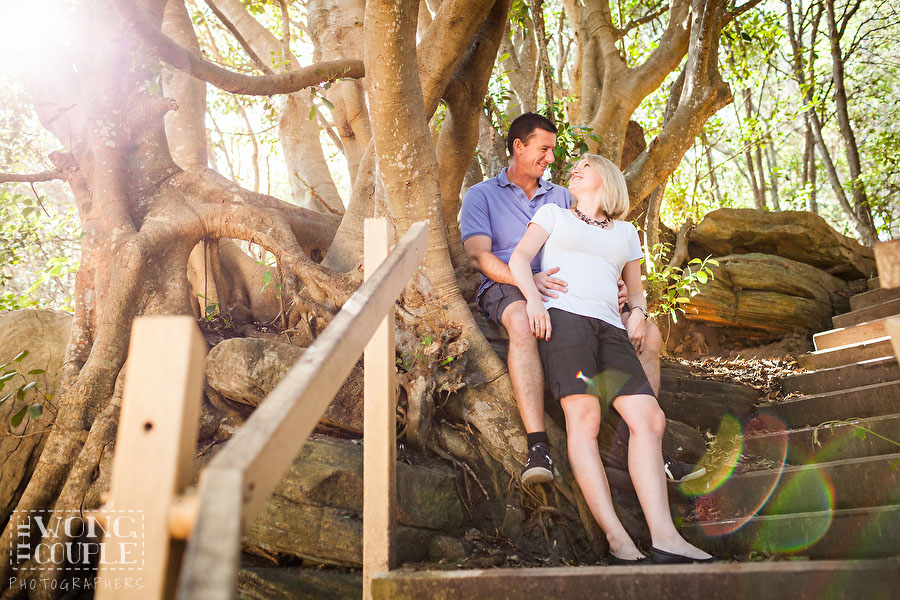Pre-wedding engagement photos at Shelly Beach Park