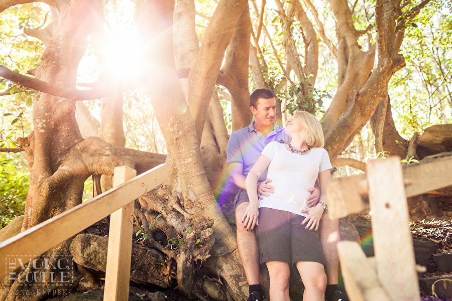 Engagement session pictures at Shelly Beach Park