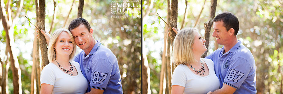 Pre-wedding engagement photography at Shelly Beach Park