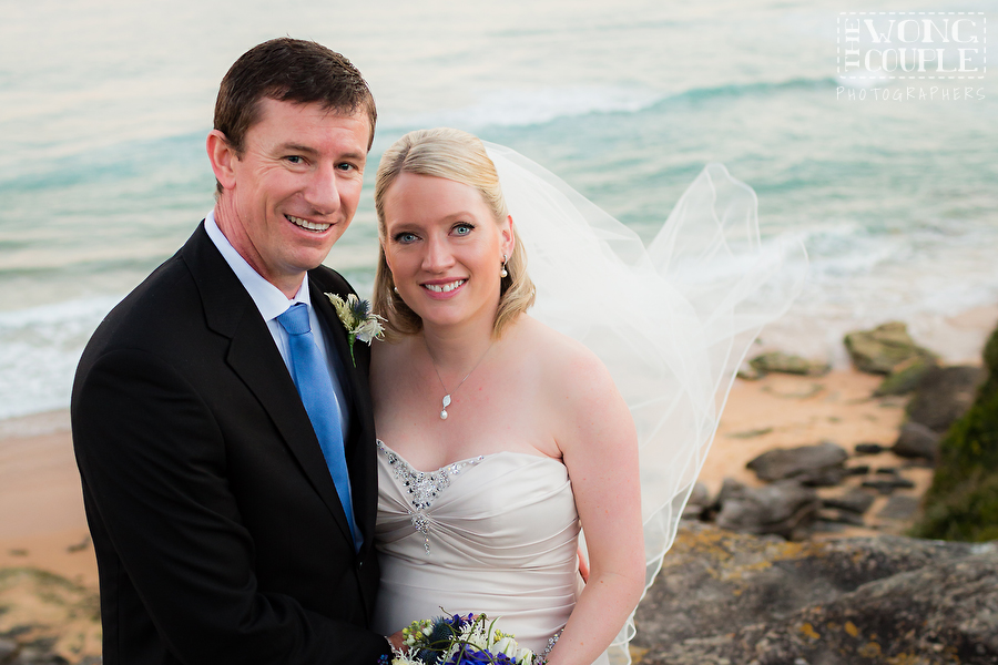 Wedding pictures at North Curl Curl Beach and Surf Reserve