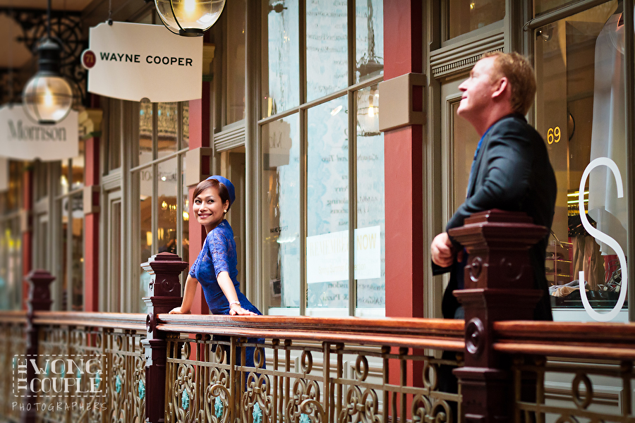 The Strand Arcade, Sydney CBD, Pre-Wedding Portrait Session