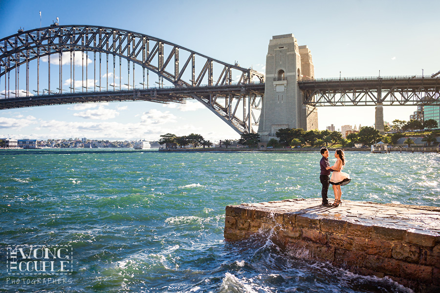 Engagement session of beautiful Sydney Harbour