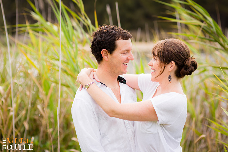 Narrabeen Lakes engagement portraits