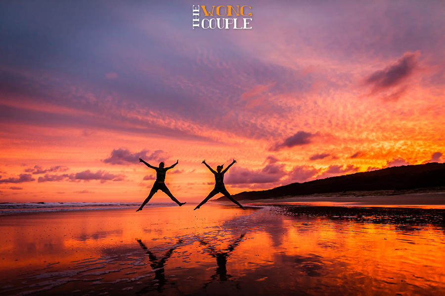 Fraser Island beach photo spectacular sunset, Australian landscape photographers