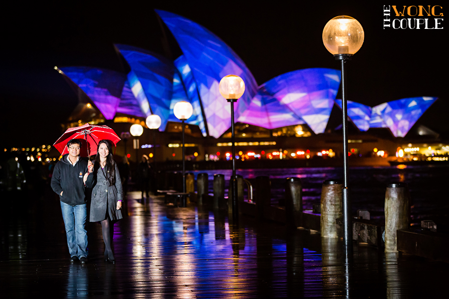 Vivid Sydney 2013, Sydney Opera House, purple opera house, blue opera house, Sydney Festival of Lights, Vivid Sydney Engagement Session