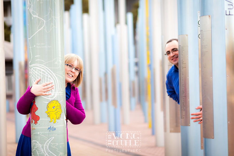 Pre-wedding photos in the Forest of Poles, Sydney Olympic Park