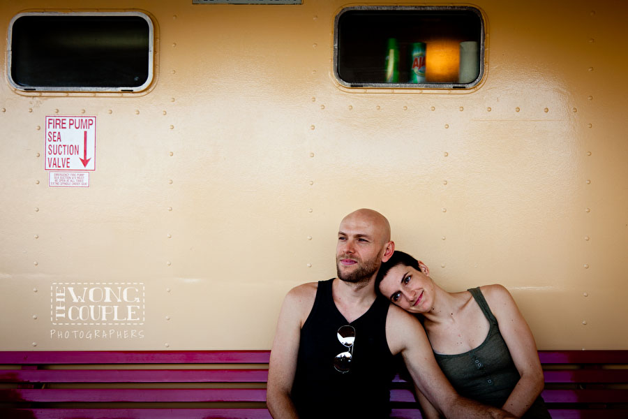 Couples Portrait Photography on Sydney Ferry