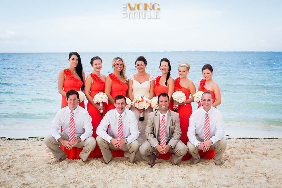 Playa Mujeres beach wedding Mexico, summer destination wedding Mexico