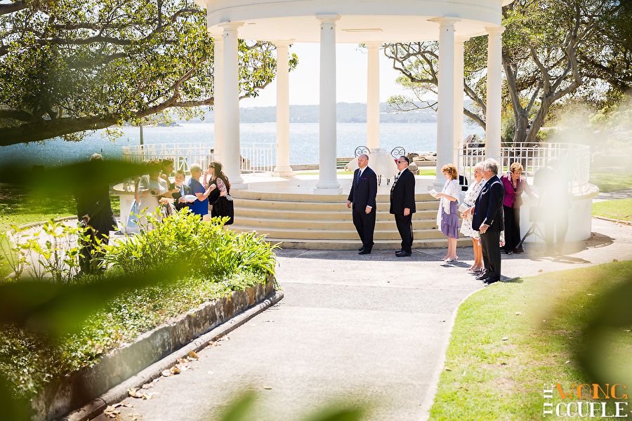 Wedding ceremony at Balmoral Beach Rotunda Sydney