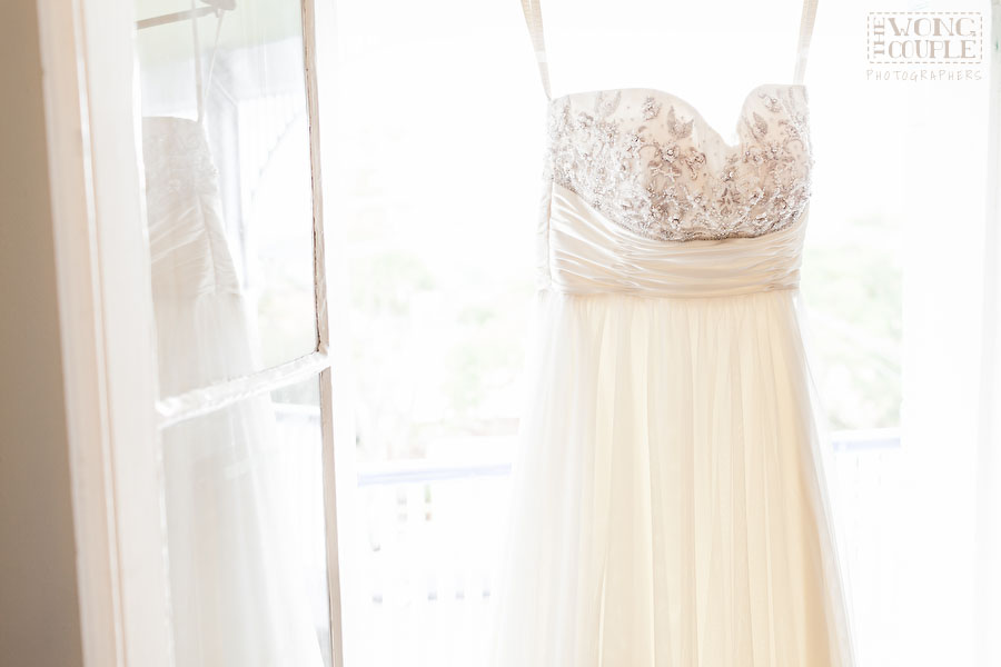 Wedding Dress in Cremorne Point Manor, Sydney