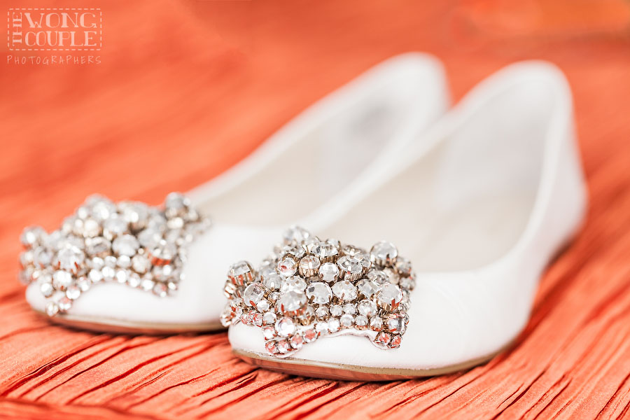 Wedding Shoes in Cremorne Point Manor, Sydney wedding, orange wedding