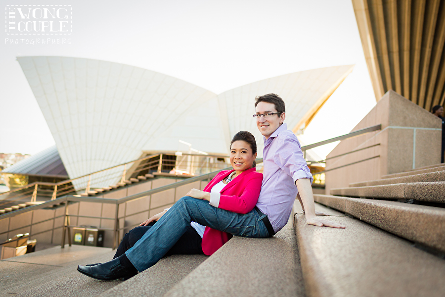 Tenth anniversary portrait session at Sydney Opera House