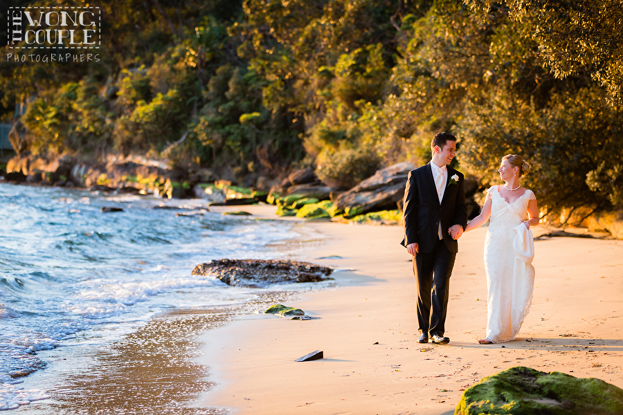 Sydney North Shore beach wedding pictures