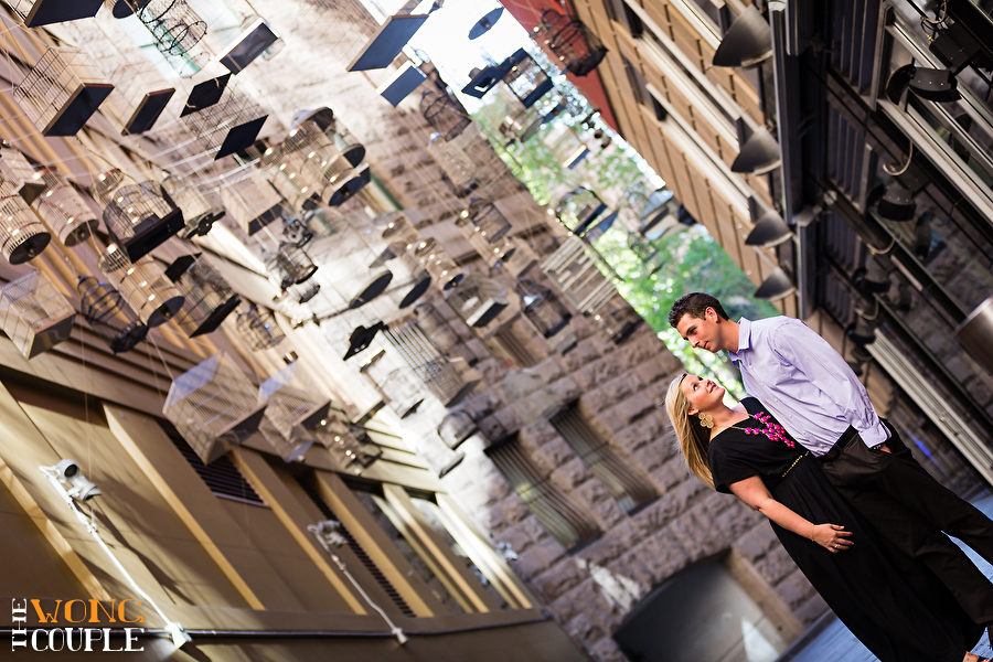 Angel place Martin place Sydney city street photography engagement session