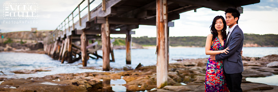 Bare Island Engagement Session, Pre-Wedding Photos, Bridge Panorama, Sydney