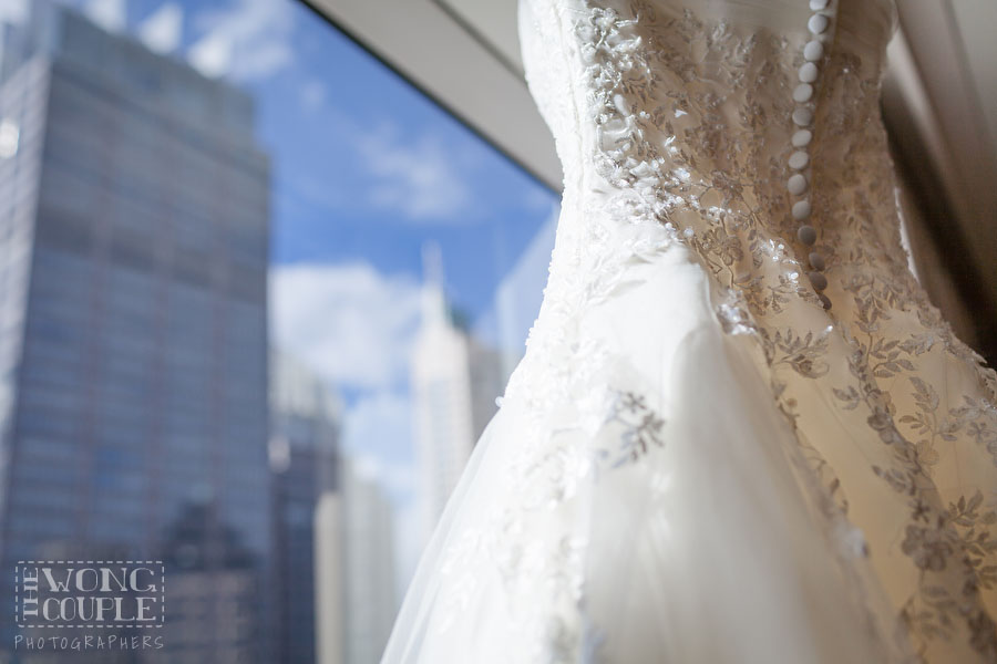 Picture of wedding dress at Marriott Circular Quay Sydney
