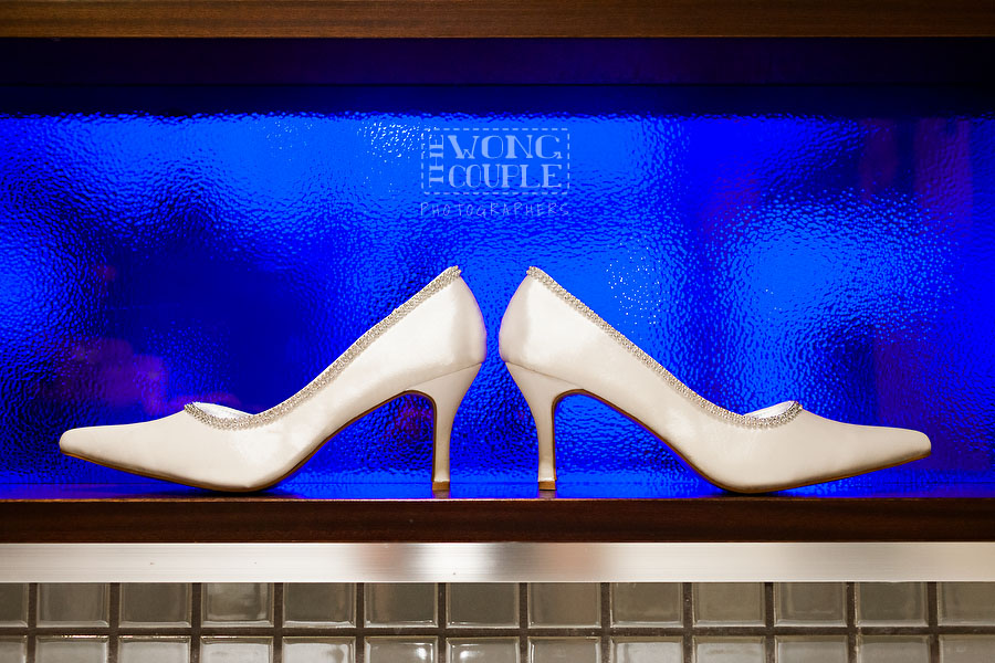 Wedding shoes, bride getting ready at the Blue Hotel Woolloomooloo