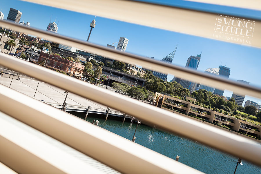 Wedding photography: view from the Blue Hotel Woolloomooloo