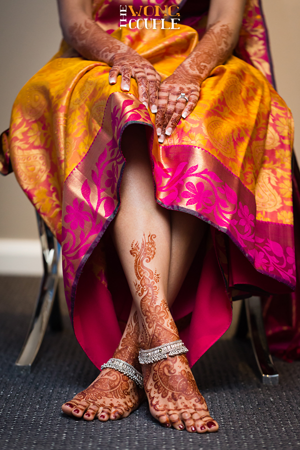 Indian bride henna pattern, Sydney Hindu wedding, colourful and vibrant wedding photography