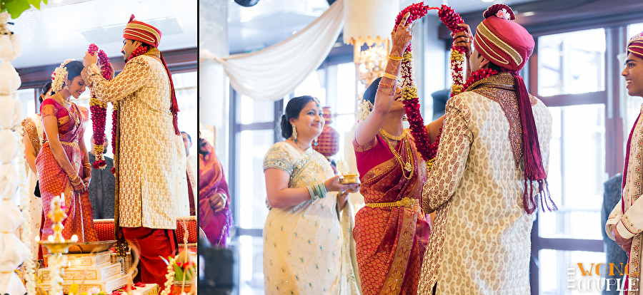 Bride And Groom Being Married In Traditional Hindu Wedding Ceremony Australia