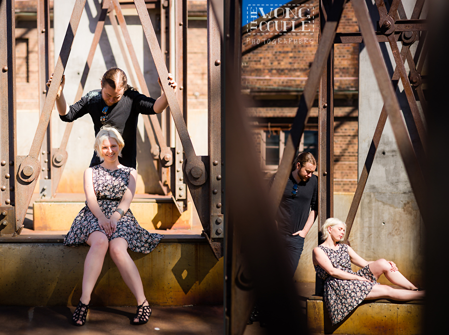 Urban couple photo session at carriageworks