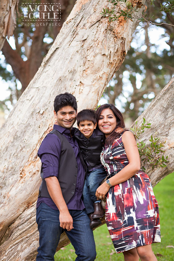 Family and baby pictures at Centennial Park, Sydney