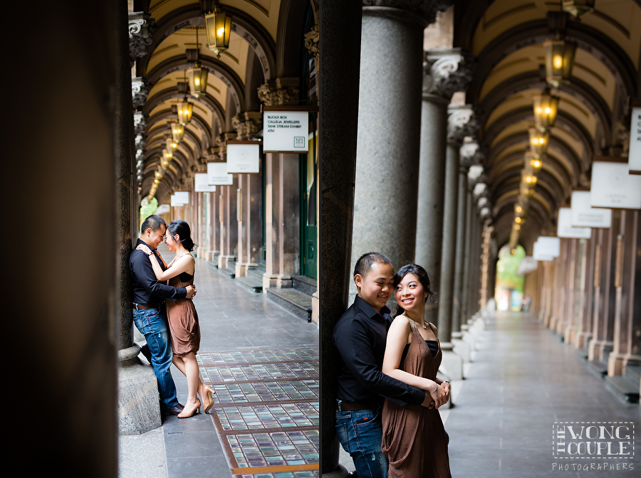 Martin Place engagement session in Sydney city