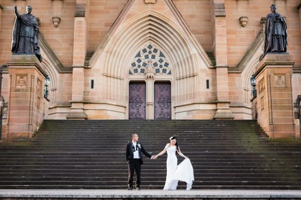 Pre-wedding Photos at St Mary's Cathedral, Observatory Hill, and Woolloomooloo
