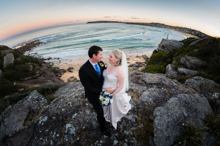 Sunset at North Curl Curl Beach Wedding