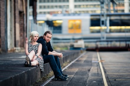 Urban hip stylish pre-wedding anniversary photography Sydney