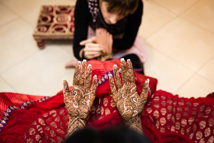 Indian pre-wedding celebrations, Hindu Mehndi night, bridal henna