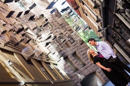 Angel place engagement session, Sydney city couples portraits