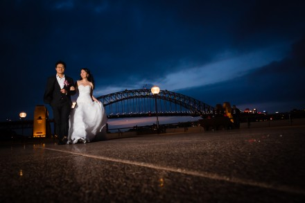 Sydney Opera House harbour bridge wedding photos